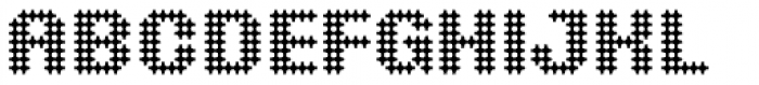 Yellow Perforated Font UPPERCASE