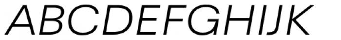 Yeni Zaman Expd Light Italic Font UPPERCASE