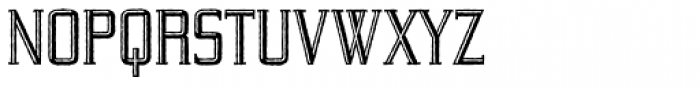 Yeoman Gothic RR Engraved Antique Font UPPERCASE