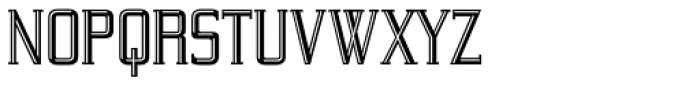 Yeoman Gothic RR Engraved Font LOWERCASE