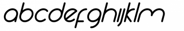Yesterday Oblique Bold Font LOWERCASE
