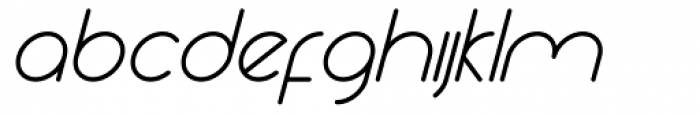 Yesterday Oblique Medium Font LOWERCASE