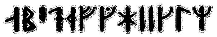 Yggdrasil Runic Font LOWERCASE