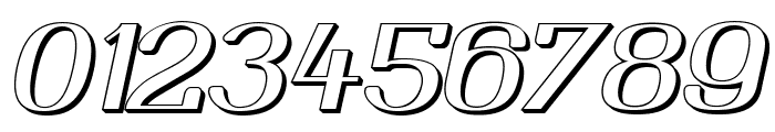 Yiggivoo Unicode 3D Italic Font OTHER CHARS