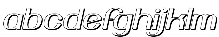 Yiggivoo Unicode 3D Italic Font LOWERCASE