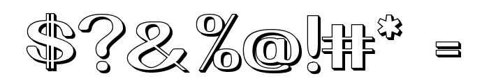 Yiggivoo Unicode 3D Font OTHER CHARS