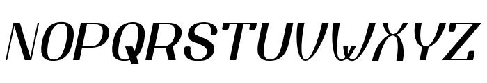 YiggivooUnicode-Italic Font UPPERCASE