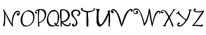 Yippy Skippy Font UPPERCASE
