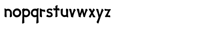 Yipe Regular Font LOWERCASE