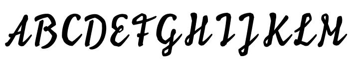 Ylvie script bold Italic Font UPPERCASE