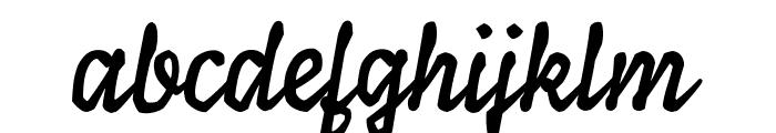 Ylvie script bold Italic Font LOWERCASE