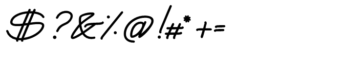 Yma Italic Font OTHER CHARS