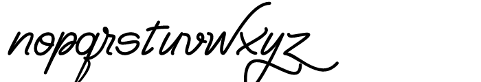 Yma Italic Font LOWERCASE