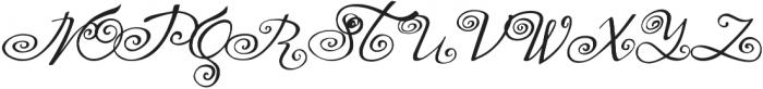 Yndina elegant font otf (400) Font UPPERCASE