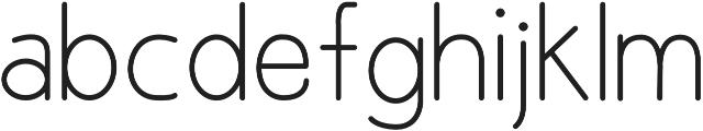 Yoanna Regular otf (400) Font LOWERCASE
