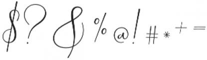 Yolan Script Regular otf (400) Font OTHER CHARS