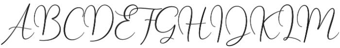 Yolan Script Regular otf (400) Font UPPERCASE