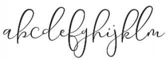 Yolan Script Regular otf (400) Font LOWERCASE