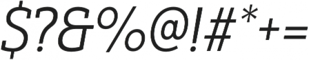 Yorkten Slab Cond Book Ital otf (400) Font OTHER CHARS