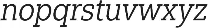 Yorkten Slab Cond Book Ital otf (400) Font LOWERCASE
