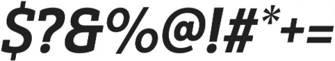 Yorkten Slab Cond ExBold Ital otf (700) Font OTHER CHARS