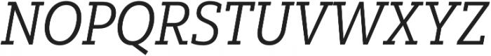Yorkten Slab Cond Regular Ital otf (400) Font UPPERCASE