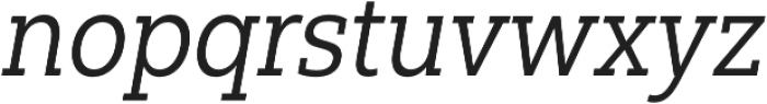 Yorkten Slab Cond Regular Ital otf (400) Font LOWERCASE