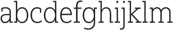 Yorkten Slab Cond Thin otf (100) Font LOWERCASE