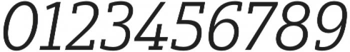 Yorkten Slab Ext Book Ital otf (400) Font OTHER CHARS
