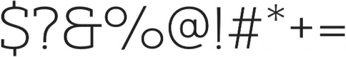 Yorkten Slab Ext Thin otf (100) Font OTHER CHARS