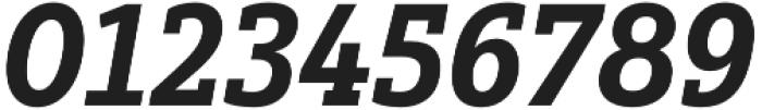 Yorkten Slab Norm ExBold Ital otf (700) Font OTHER CHARS