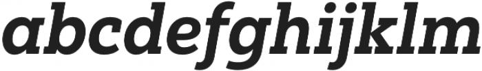 Yorkten Slab Norm ExBold Ital otf (700) Font LOWERCASE
