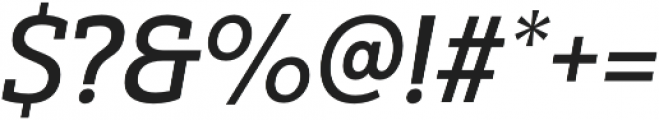 Yorkten Slab Norm Medium Ital otf (500) Font OTHER CHARS