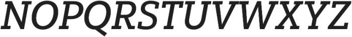 Yorkten Slab Norm Medium Ital otf (500) Font UPPERCASE