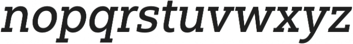 Yorkten Slab Norm Medium Ital otf (500) Font LOWERCASE