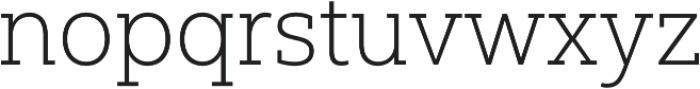 Yorkten Slab Norm Thin otf (100) Font LOWERCASE