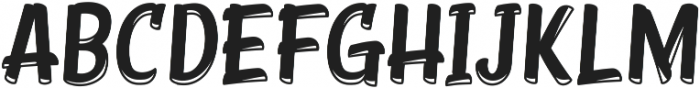 Young Coconut Display Inline ttf (400) Font LOWERCASE