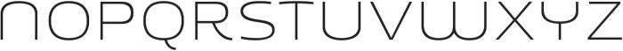 Younion FY Thin THREE otf (100) Font UPPERCASE