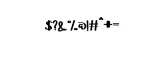 YOFORIA.otf Font OTHER CHARS