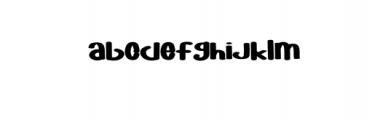 YOFORIA.otf Font LOWERCASE