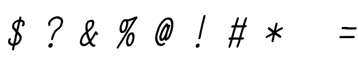 YOzFont04 Italic Font OTHER CHARS