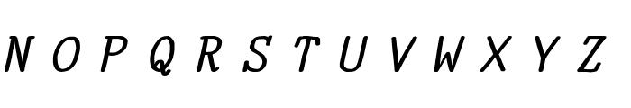 YOzFontA04 Bold Italic Font UPPERCASE
