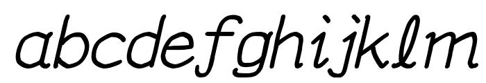 YOzFontCP04 Italic Font LOWERCASE