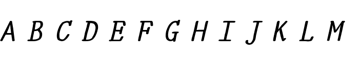 YOzFontE04 Bold Italic Font UPPERCASE