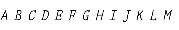 YOzFontE97 Italic Font UPPERCASE