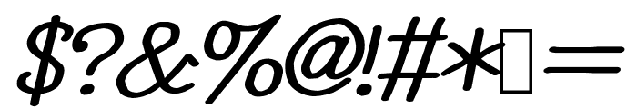 YOzFontEP04 Bold Italic Font OTHER CHARS