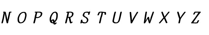 YOzFontN04 Bold Italic Font UPPERCASE
