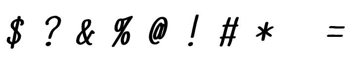 YOzFontN97 Bold Italic Font OTHER CHARS