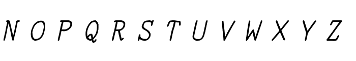 YOzFontN97 Italic Font UPPERCASE