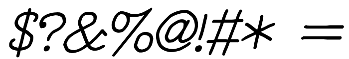 YOzFontNP04 Italic Font OTHER CHARS